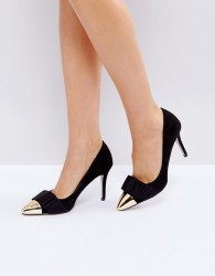 Miss KG Alyssa Black Bow Court Shoes - Black