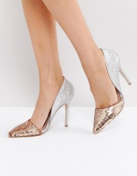 Miss KG Andrea Sequin Court Shoes - Multi