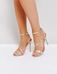 Miss KG Asymmetric Heel Sandals - Copper