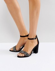 Miss KG Barely There Block Heeled Sandal - Black