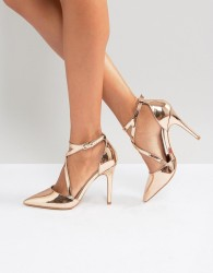 Miss KG Crossover Point High Heels - Copper