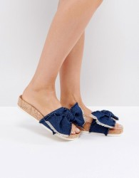 Miss KG Denim Blue Flat Sandals - Blue
