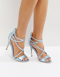 Miss KG Fiesta Metallic Strap Heeled Sandals - Blue