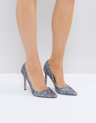 Miss KG Glitter Court Shoes - Silver