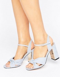 Miss KG Grace Knot Heeled Sandals - Blue