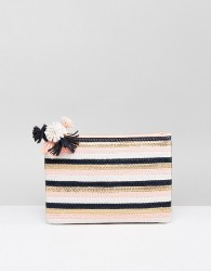 Miss KG Hunt Pom Detail Clutch Bag - Multi