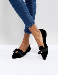 Miss KG Larissa Velvet Pointed Shoes - Black