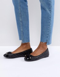 Miss KG Magda Studded Ballet Pumps - Black