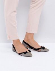 Miss KG Nica Cut Out Pointed Flat Shoes - Beige