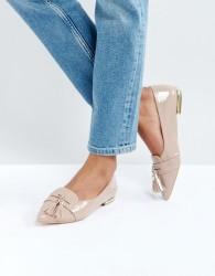Miss KG Nikki Patent Tassel Ballet Flats - Beige