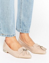Miss KG Nikki Pointed Tassel Flat Shoes - Beige
