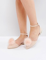 Miss KG Pom Pom Flat Shoes - Pink