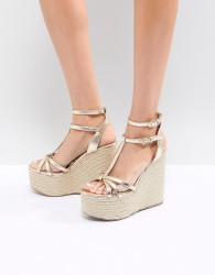 Miss KG Rope Super Stacked Wedge - Gold