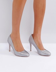 Miss KG Round Toe Point High Heels - Grey