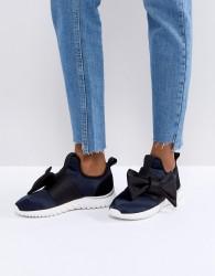Miss KG Satin Bow Sneakers - Black