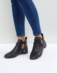 Miss KG Seb Studded Flat Boots - Black
