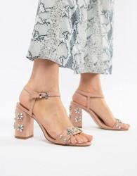 Miss KG Shimmer Embellished Heeled Sandals - Beige