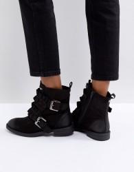 Miss KG Spice Ruffle Flat Boots - Black