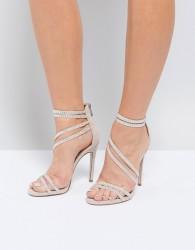 Miss KG Swirled Strappy Heeled Sandal - Beige