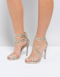 Miss KG Swirled Strappy Heeled Sandal - Gold