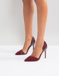 Miss KG Two Part Point High Heels - Red