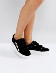 Miss KG Velcro Strap Trainer - Black