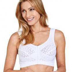 Miss Mary of Sweden Miss Mary Soft Cup Bra With Front Closure - White * Kampagne *