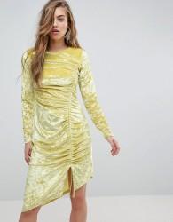 Miss Sefridge Velvet Ruched Mini Dress - Multi
