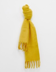 Miss Selfridge oversized scarf in ochre - Yellow