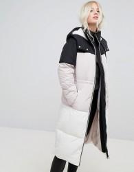 Miss Selfridge Overszied Colourblock Padded Jacket - Multi