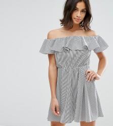 Miss Selfridge Petite Bardot Ruffle Mini Dress - Multi