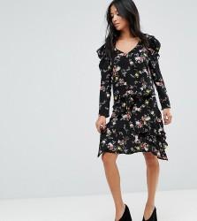 Miss Selfridge Petite Hanky Hem Floral Skirt - Multi