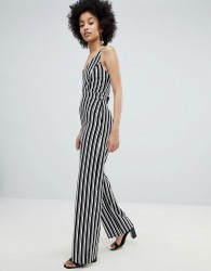 Miss Selfridge Stripe Wide Leg Cami Jumpsuit - Multi