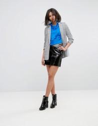 Miss Selfridge Vinyl Mini Skirt - Black