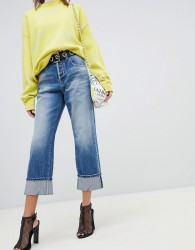 Miss Sixty highwaisted straight leg jean with turn up - Blue
