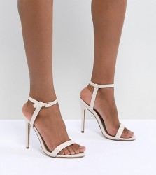 Missguided Barely There Heeled Sandals - Beige