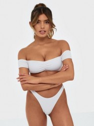 Missguided Crinkle Boomerang Bikini Bottoms Trusser