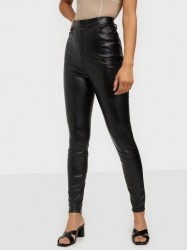 Missguided Croc Leather Trousers Bukser