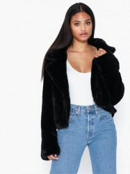 Missguided Faux Fur Belted Jacket Faux fur
