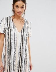 Missguided Petite Sequin Stripe Mini Dress - Multi