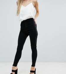 Missguided Petite Vice High Waisted Super Stretch Skinny Jean - Black