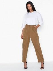Missguided Pleat Front Hem Cargo Trousers Bukser