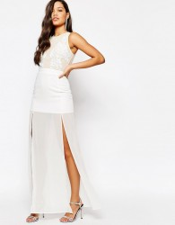 Missguided Premium Embellished Top Maxi Dress - Cream