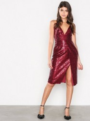 Missguided Sequin Strappy Midi Dress Pailletkjoler Red