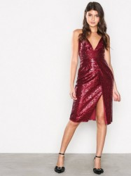 Missguided Sequin Strappy Midi Dress Pailletkjoler
