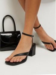 Missguided Single Strap Crossover Toe Heel High Heel