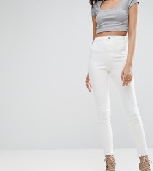 Missguided Tall Vice High Waisted Ankle Grazer Super Stretch Skinny Jean - White