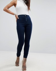 Missguided Vice High Waisted Super Stretch Skinny Jean - Navy