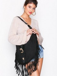 Missguided Western Buckle Shoulder Bag Håndtaske Black