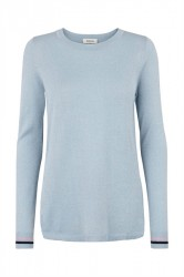 Modström - Bluse - Fancy O-Neck - Blue Wash